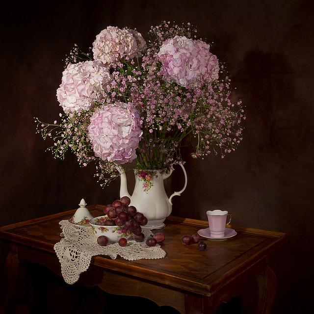 kytice hortenzií