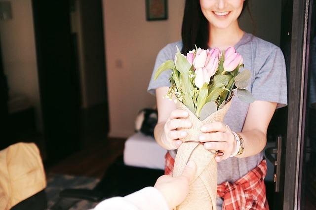 darované květiny